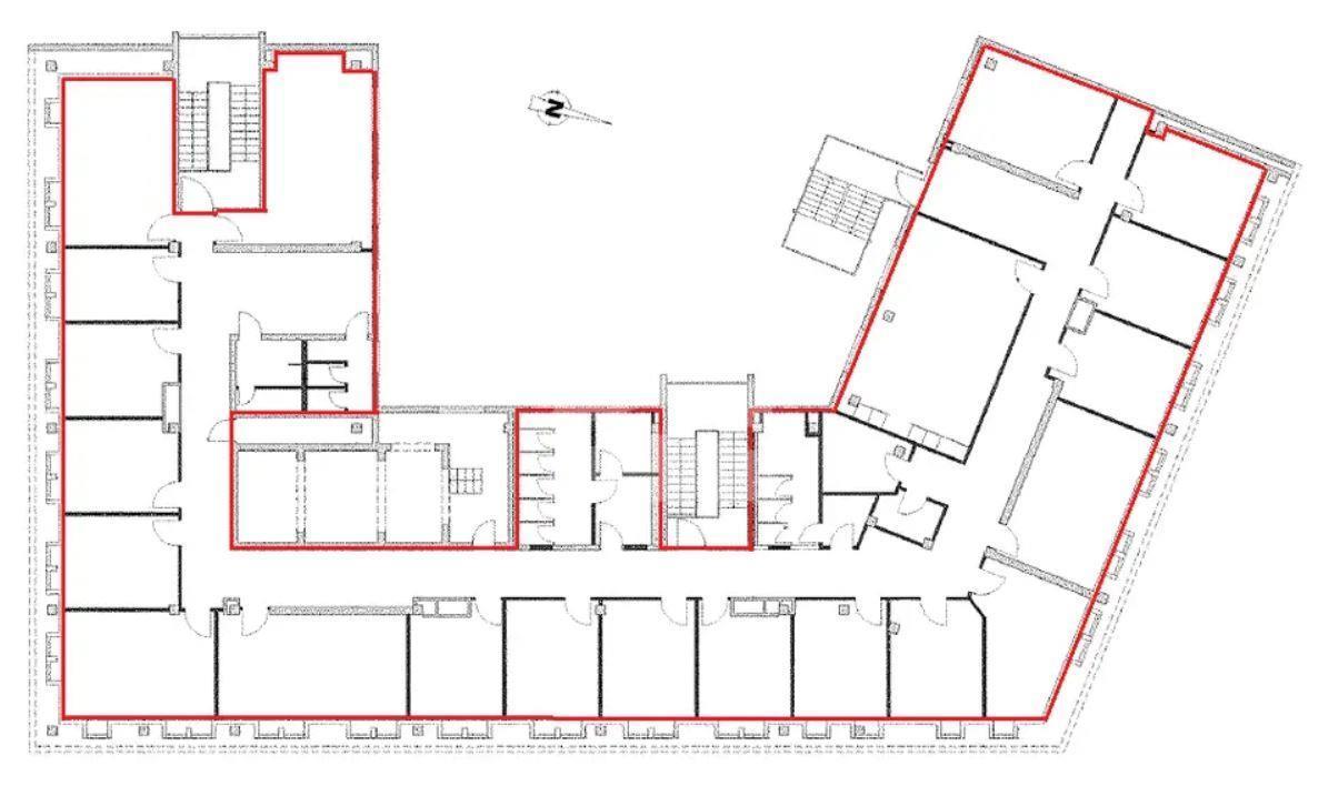 6. Obergeschoss gesamt 705 m²